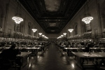 The reading room at the New York Public Library