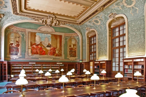 La Sorbonne Reading Room at the University of Paris (Paris, France)