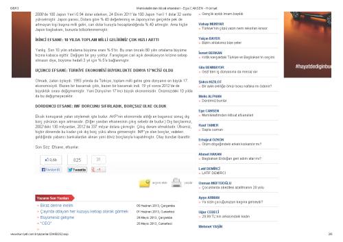 Memleketimden iktisat efsaneleri - Ege CANSEN - Hürriyet_Sayfa_2