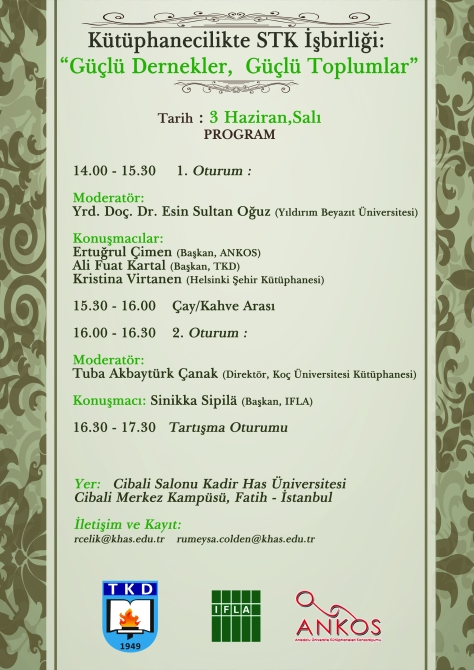 Kutuphanecilikte STK Isbirligi 3 Haziran 2014 Poster