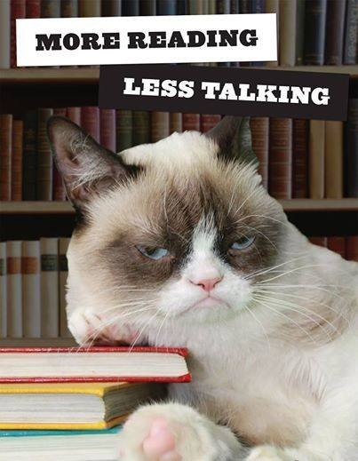 more reading less talking