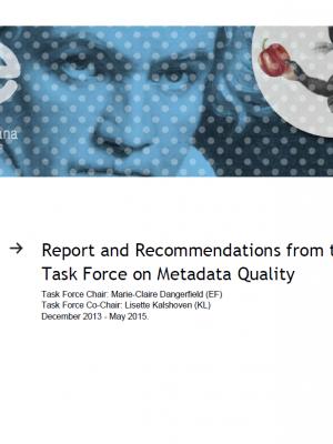 MetadataTaskForce2