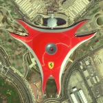 Ferrari World is an amusement park located on Yas Island in Abu Dhabi, United Arab Emirates