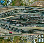 Roseville Yard, located north of Sacramento, California is the largest rail facility on the west coast of the United States