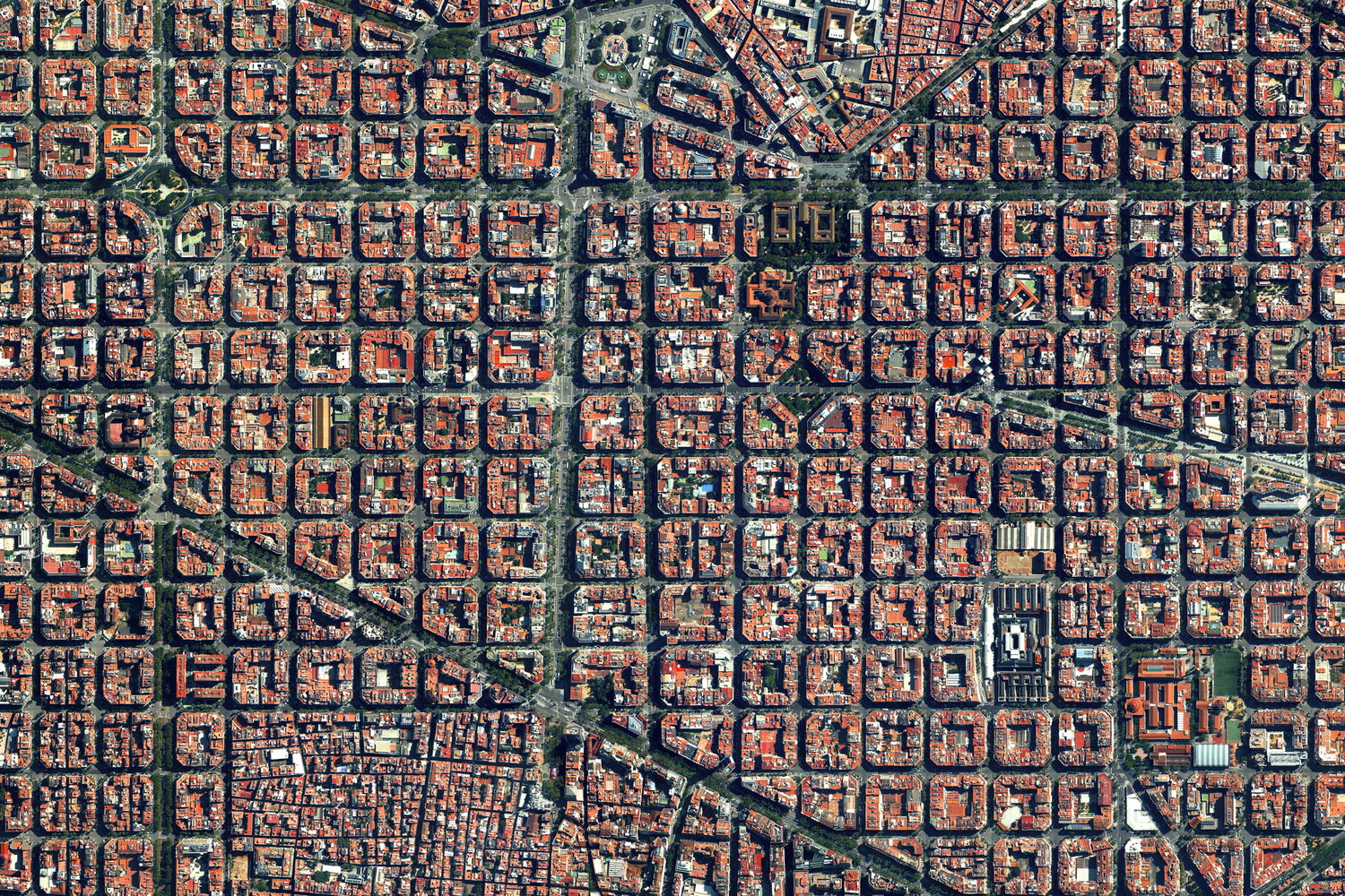 The Eixample District In Barcelona Spain Bluesyemre - Barcelona map eixample district