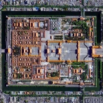 The Forbidden City in Beijing, China was built from 1406 until 1420 by more than one million workers