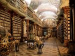 the-clementinum-national-library-in-prague-czech-republic-was-founded-in-1781-and-has-the-largest-collection-of-books-in-the-country-it-also-houses-personal-items-of-historical-figu