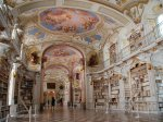 with-the-alps-as-a-background-the-admont-library--located-in-the-admont-monastery-in-admont-austria--is-the-second-largest-monastery-library-in-the-world-the-beautiful-painted-ceili