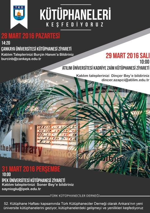 Kütüphaneler Haftası Afiş