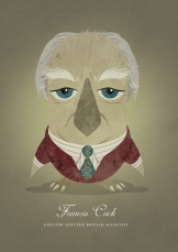francis-crick-greater-spotted-british-scientist-as-an-owl-prints