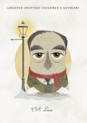 Great-authors-presented-as-owls-C.S.-Lewis