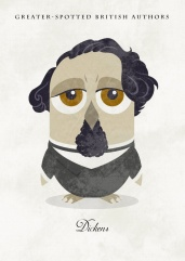 Great-authors-presented-as-owls-Charles-Dickens