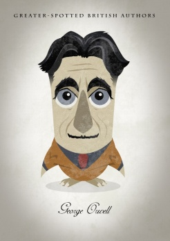 Great-authors-presented-as-owls-George-Orwell
