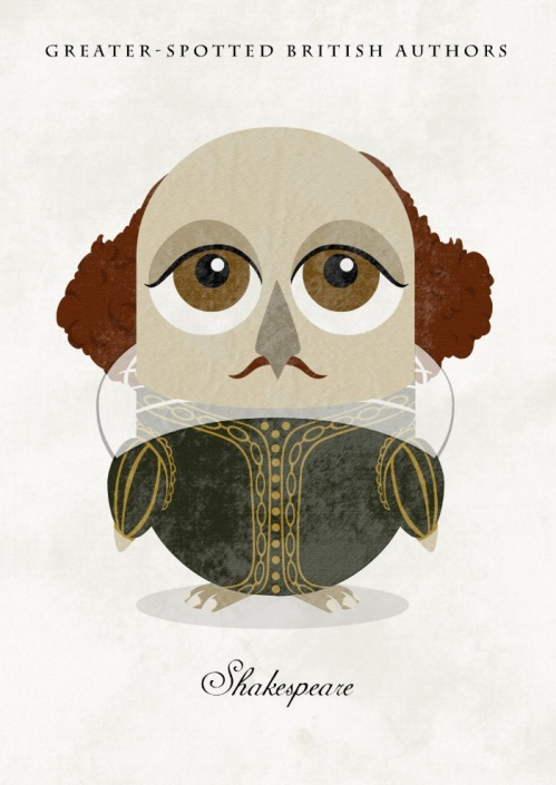 Great-authors-presented-as-owls-William-Shakespeare