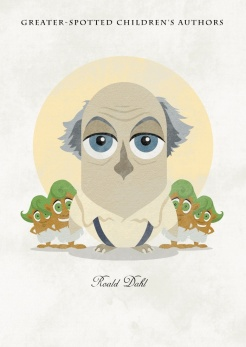 roald-dahl-greater-spotted-childrens-authors-prints