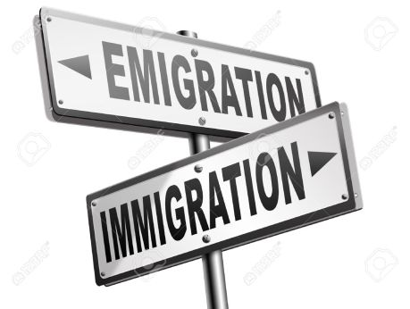 42958479-immigration-or-emigration-political-or-economic-migration-by-refugees-or-moving-across-the-border-by-Stock-Photo