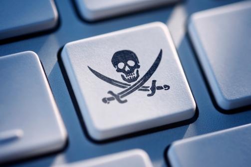 Pirate Key On Computer Keyboard