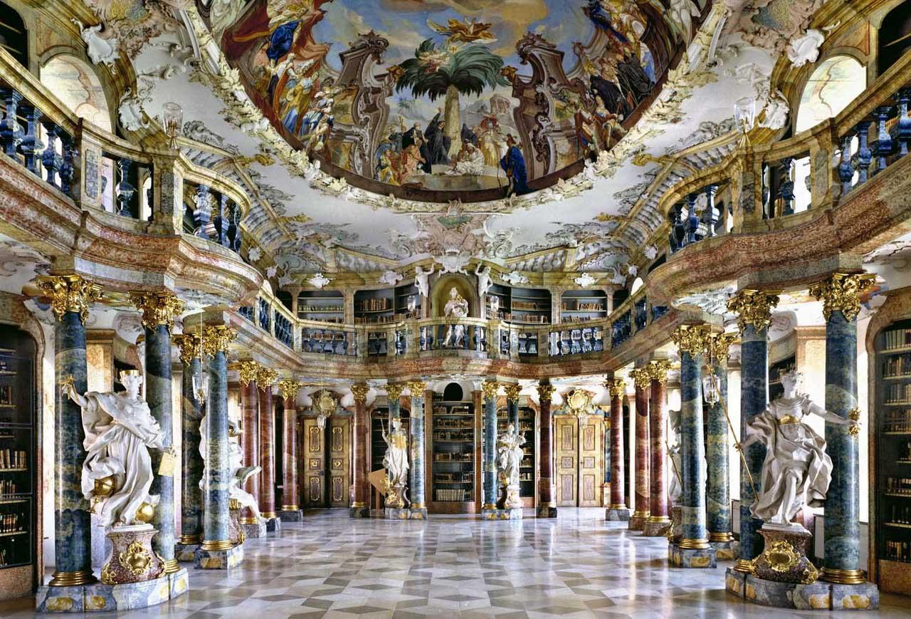 Biblioteca del Monasterio de Wiblingen, en Alemania