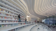 06-Tianjin Binhai Library, China-This library was hailed as the most beautiful library in China on social media when it opened in the northeastern Chinese city of Tianjin in 2017