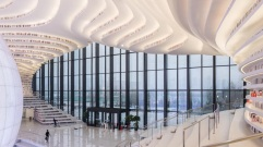 07-Tianjin Binhai Library, China-The 33,700-square-meter library is one of the five main attractions in the Binhai Cultural Center, the city's new recreational district