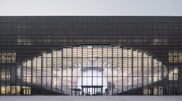 09-Tianjin Binhai Library, China-The atrium of the library is shaped like an eye