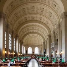 Bates Hall, McKim building, Boston Public Library, MA
