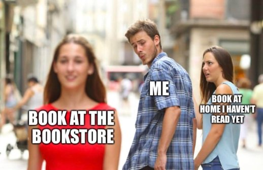 Book at the bookstore