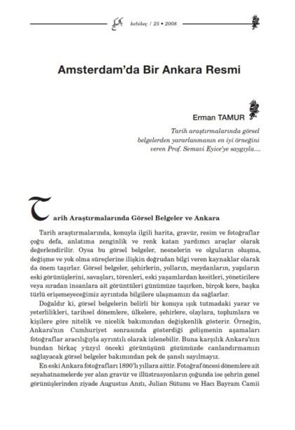 Amsterdam'da bir Ankara resmi