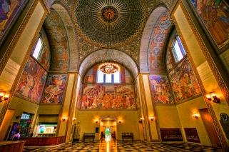 central-library-rotunda-zodiac-chandelier