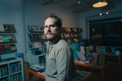 Jared White at Perl's at Brooklyn Poetry Shop, Dumbo, Brooklyn, 2017