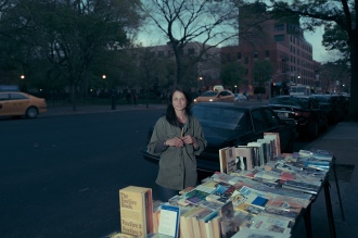 Jennifer Fischer, Street Bookseller, St. Marks Place, East Village, Manhattan, 2017