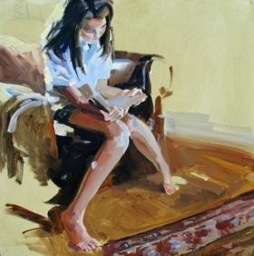 Lacambra-Shubert, Laura - Alexandra reading in the den