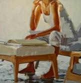 Lacambra Shubert, Laura - Reading in white