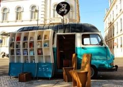 a van bookstore in lisbon