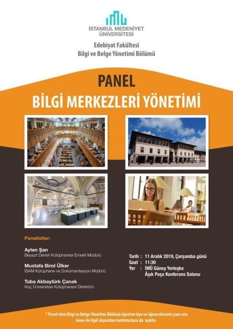 Bilgi Merkezleri Yönetimi Paneli
