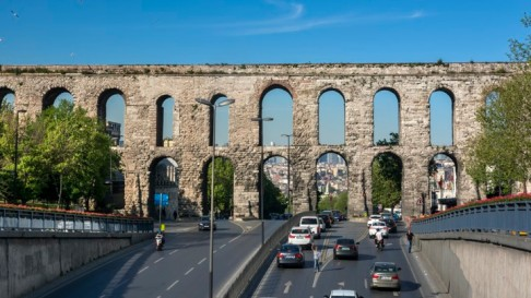 The Valens Aqueduct in Istanbul,Turkey