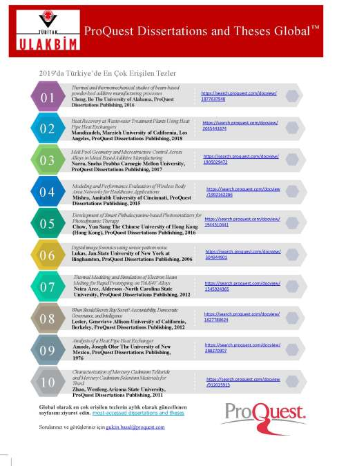 Top 10 Dissertations Infogram-Turkey
