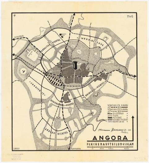 Jansen Hermann  (1869-1945): Gesamtbebauungsplan Ankara