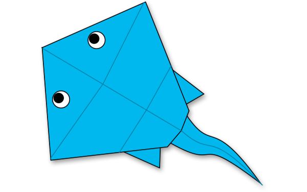 Crab Corner Bookmarks - Ocean Animals Origami for Kids - Easy ... | 376x600