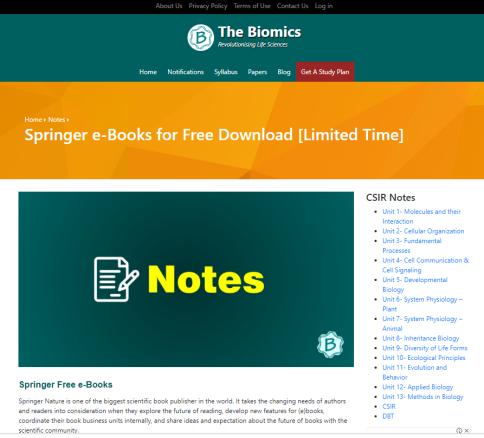 springer ebooks